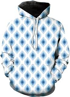 Unisex Hoodie 3D Print Ikat Exotic Motifs Sherpa Lined Fleece Sweatshirt Size 4XL