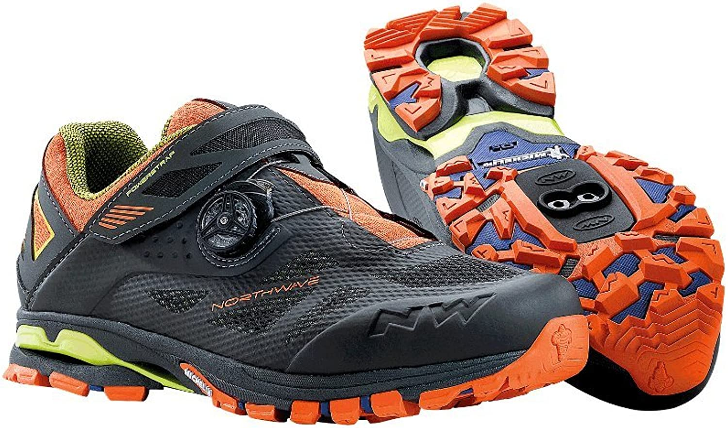 Northwave Spider Plus 2 Mountainbike Schuhe Antra-schwarz-Orange