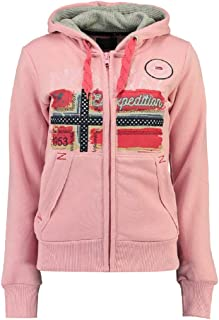 Geographical Norway FARLOTTE Lady - Damen Sweatshirt Langarmshirt Taschen - Damen Sweatshirt Langarm Pullover Winter - Hoo...