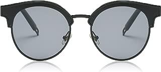 Fashion Cateye Sunglasses for Women Oversized Flat Mirrored Lens SJ1055