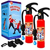 Toy fire extinguishers with Whistles 2 Pack.Shoots Real Water Great for...
