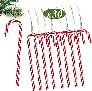 30 Stück Set Zuckerstange zum Hängen ca 13 cm Rot Weiss Baumschmuck Weihnachten