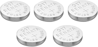 5 x Renata 317 Knopfzellen Batterie / Uhrenbatterie Swiss, Silberoxid, 1,5 V (SR516SW