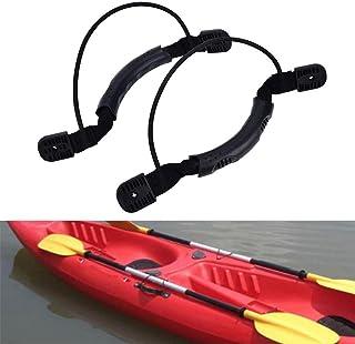 Acampada y senderismo Alomejor 2 Unids/Set Manijas de Kayak con Tornillos Durable Canoa de Nylon Negro Tirar de la Manija del Barco con Cordón Montaje Trasero Trasero Accesorios Bolsas de agua
