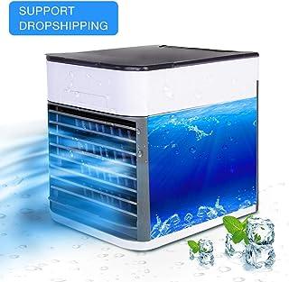 YUKAKI Mini USB aire acondicionado portátil humidificador purificador 3 en 1 función