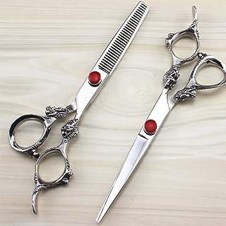 Barber Hairdresser Scissors Hair Scissors Hairdressing Scissors with Case Thinning Shears Cutting Scissors Set with Razor,...