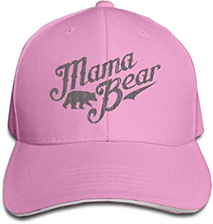 OOERTY Mama Bear New Mom Gift Visor Hats Style Sandwich Cap Cap