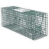 Plegable de Una Sola Puerta Animal Vivo Trampa de Rata Viva Trampa de Jaula de Ardilla Humanizada, Gran Jaula Trampa Para Ratas Para Jardines Interiores Y Exteriores, Adecuado Para 9Kg Gato / Marmot