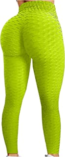 QUINTRA Women Bubble Hip Lifting Exercise Fitness Running High Waist Yoga Pants Plus Size Sports Leggings Running Tights T...
