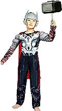 Lovelegis Disfraz de Thor para niños - superhéroe y máscara - Torso musculoso - Disfraz - Carnaval - Halloween - Cosplay - Accesorios - Talla s - 3/5 años