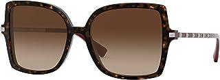 نظارة شمسية من فالنتينو VA4072 500213 هافانا نظارة شمسية لون المرأة عدسات بنية حجم 56 ملم