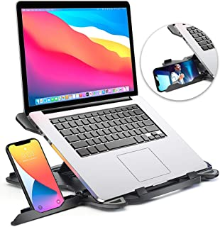 Laptop Stand for desk, Adjustable Computer Stand for All Laptops and MacBook Pro, Air 13 15 17 inches, Portable Laptop Ris...