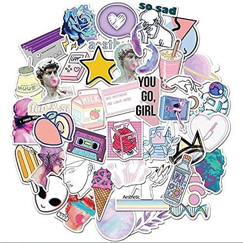 ZHAOHU 50 Pz Arte Astratta Cartoon Doodle Impermeabile Skateboard Viaggio Valigia Cellulare Bagaglio Sticker Cute Bambini Giocattoli Ragazza