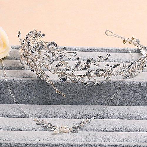 bruiloft Jurk accessoires handgemaakte Sieraden moeder haar hoofdtooi hoofd Bloem kristal Zilver Wit
