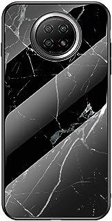 جراب Mylne زجاجي لهاتف Xiaomi Redmi Note 9T ، غطاء خلفي صلب من الزجاج المقوى سلسلة 9H مع إطار من السيليكون الناعم الواقي ،...