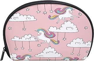ALAZA Unicorn Star Half Moon Cosmetic Makeup Toiletry Bag Pouch Travel Handy Purse Organizer Bag for Women Girls