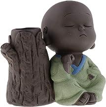 F Fityle Cute Buddha Statue Small Monk Figurine Tathagata India Yoga Mandala Sculptures Tea Pet Ceramic Crafts - Style 02