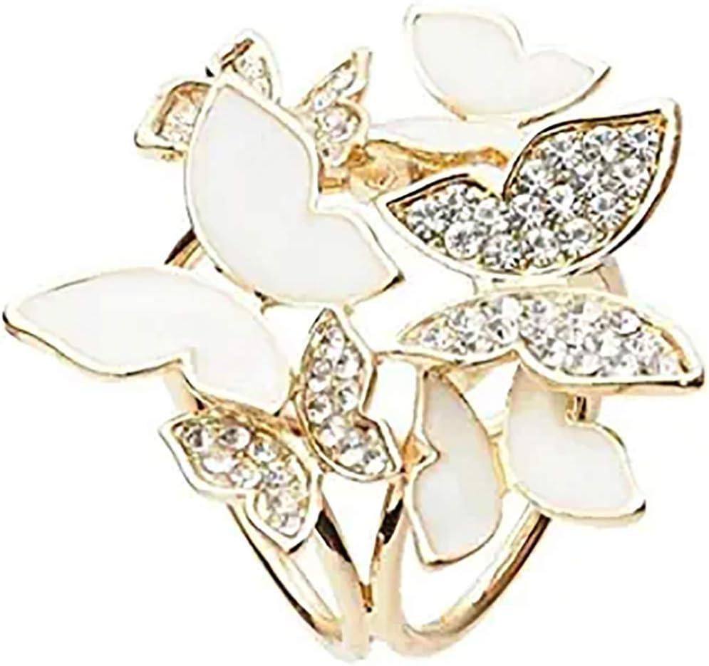 NIKOLay Elegant Butterfly Scarf Buckle Round Circle Crystal Rhinestone Neckerchief Scarf Clip for Weddings
