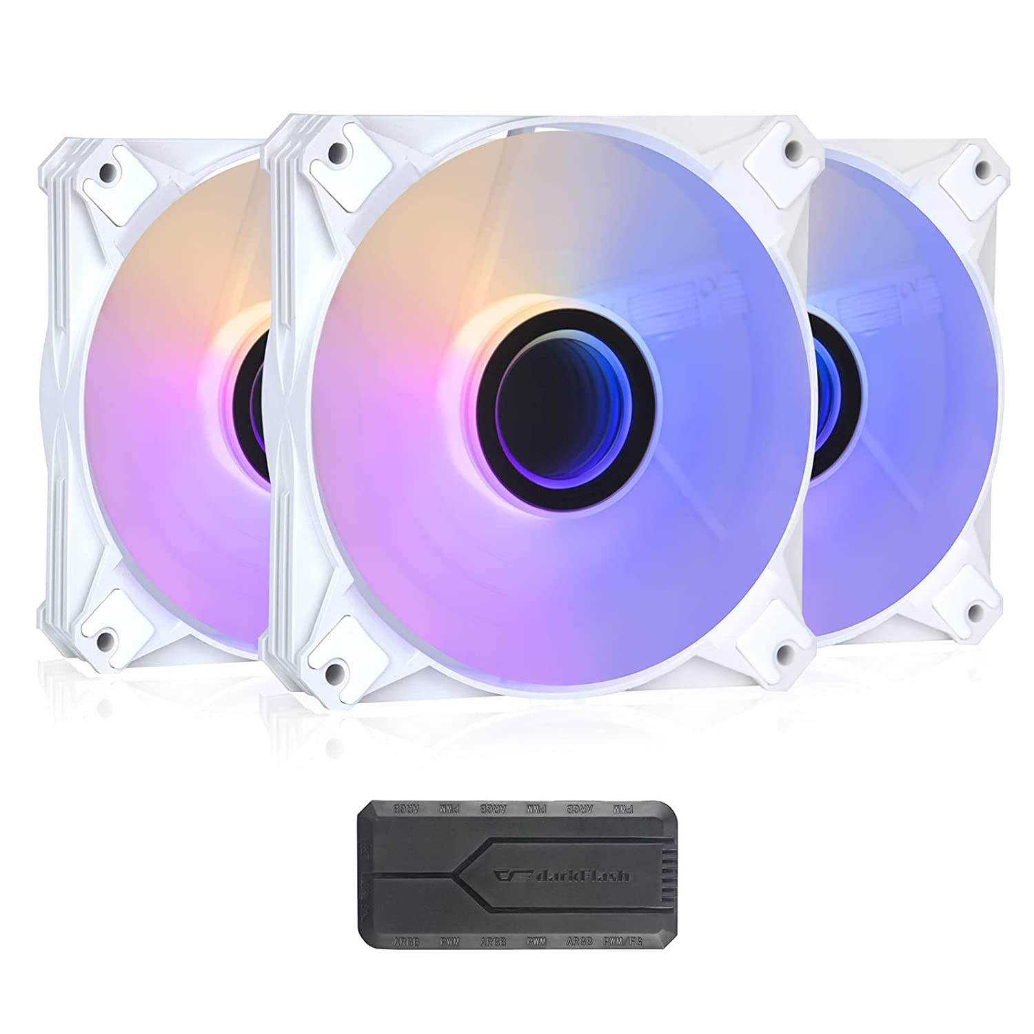 darkflash Large-scale sale INF8 List price 120mm ARGB PWM Case with Pc C Fans Controller for