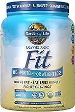 Garden of Life Organic Meal Replacement - Raw Organic Fit Powder, Vanilla - High Protein for Weight Loss (28g) Plus Fiber, Probiotics & Svetol, Organic & Non-GMO Vegan Nutritional Shake, 10 Servings