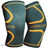 BLITZU Flexible Plus Knee Sleeves Approved Infused Pressure Day Dance...