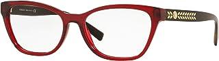 فيرساتشي VE3265 اطار نظارة 388-54 - شفاف/احمر VE3265-388-54