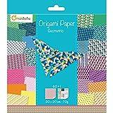 Avenue Mandarine 52501MD-Cartoncini Decorati per Origami 20 x 20 cm Geometrico, Carta, Multicolore