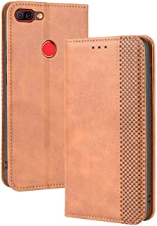 Case for Infinix Hot 6 Pro X608,Leather Stand Wallet Flip Case Cover for Infinix Hot 6 Pro X608,Retro magnetic Phone shell...