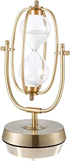 Hourglass Timer, Sand Clock 60 Minutes, Brass Metal Hour Glass for Decor Sandglass Timer