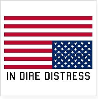 CafePress Upside Down Flag Distress Sticker Square Bumper Sticker Car Decal, 3