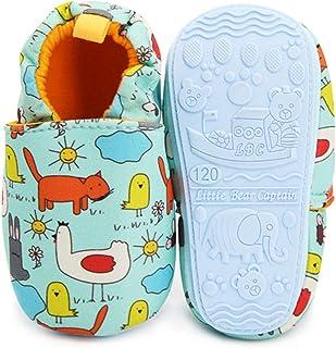 Sponsored Ad - TIMATEGO Toddler Baby Boys Girls Shoes Non Skid Slipper Sneaker Moccasins Infant First Walker House Walking...