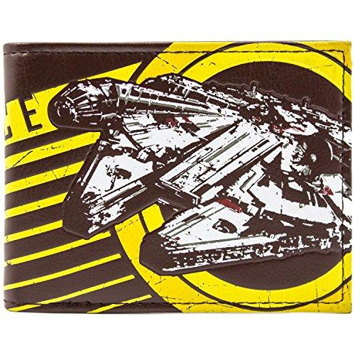 Cartera amarilla con diseño de Star Wars