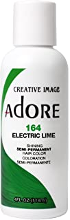 Adore Semi-Permanent Haircolor #164 Electric Lime 4 Ounce (118ml)