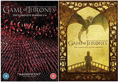 Game of Thrones - Complete Season 1-5 DVD Collection + Special Features - HBO medieval fantasy drama based on the bestselling novel series 'A Song of Ice and Fire' by George R.R. Martin
