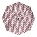 Paraguas de viaje compacto, para el aire libre, para la lluvia, el sol, el coche, plegable y reversible para el viento, toldo reforzado, protección UV, mango ergonómico, apertura y cierre automático