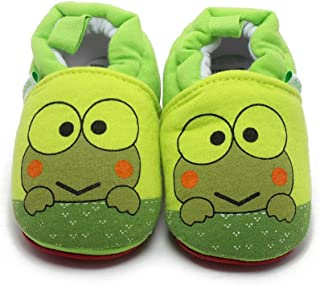 Delebao Baby Infant Toddler Cartoon Rubber Sole Crib Shoes Slippers Prewalker 0-24 Months