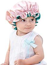 Sent Hair Baby Satin Bonnet Sleeping Cap Adjustable Kids Sleep Bonnet with Drawstring Double Layer Night Hair Caps for Kid...