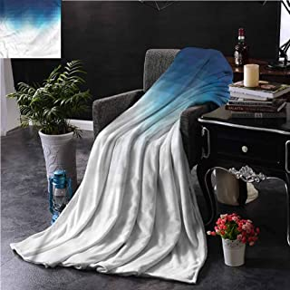 Navy Blue Couch Throw Blanket Double-Sided Printing Mosaic Style Pixel Art Couch Bed Napping Reading Recliner W70 xL84