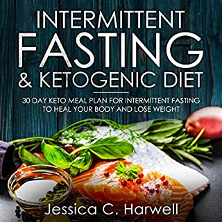Intermittent Fasting and Ketogenic Diet: 30 Day Keto Meal Plan for Intermittent Fasting to Heal Your Body & Lose Weight audiobook cover art