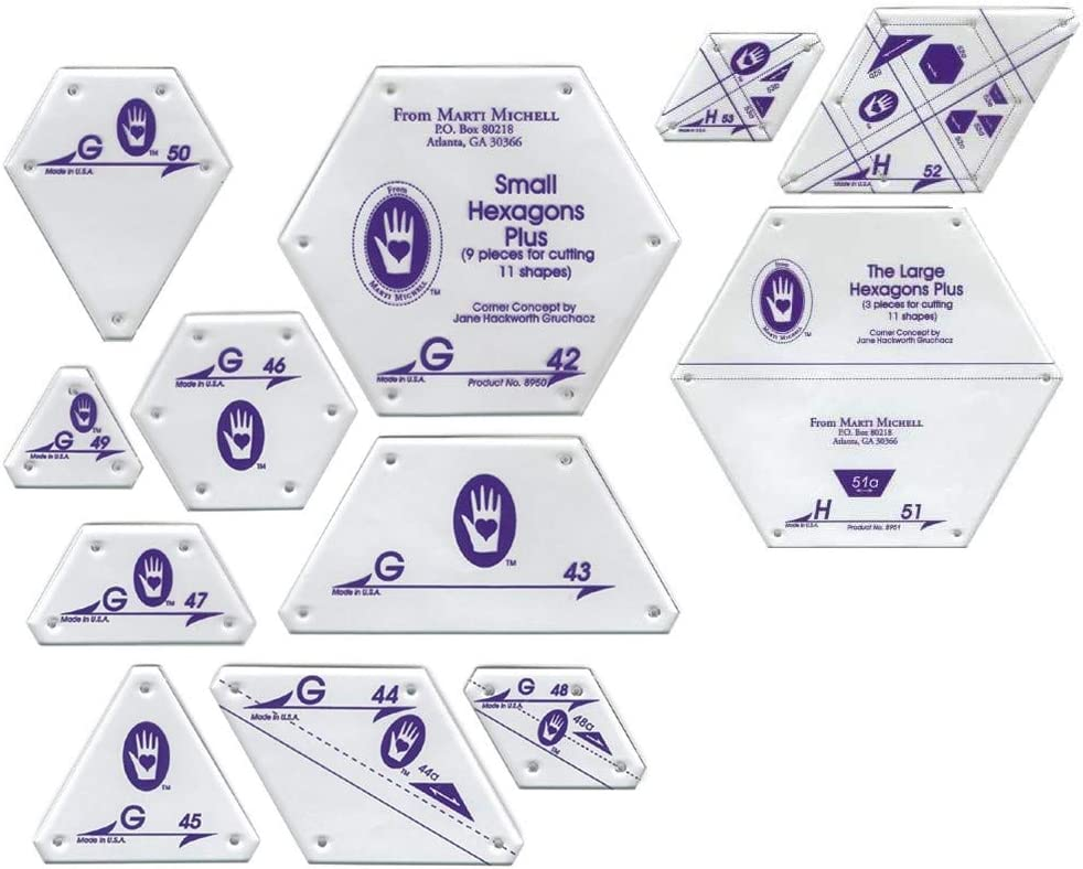 Marti Michell Hexagon Quilting Template 2 - Ranking TOP13 Sets Items: free shipping