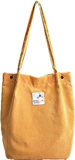 Damen Tote Handtaschen Klassische Cord-Umhängetasche Hobo Crossbody Handtasche Lässige Küche Wiederverwendbare Einkaufstas...