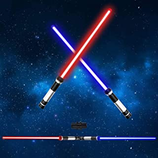 OPASDH Light Up Saber, Laser Sword 2-in-1 Led FX Dual Bladed Set with Sound (Motion Sensitive) and 7 Colors, Stocking Idea, Xmas Presents, Galaxy War Fighters and Warriors - 26