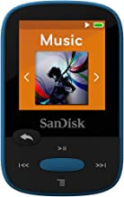 SanDisk 8GB Clip Sport MP3 Player, Blue - LCD Screen and FM Radio - SDMX24-008G-G46B