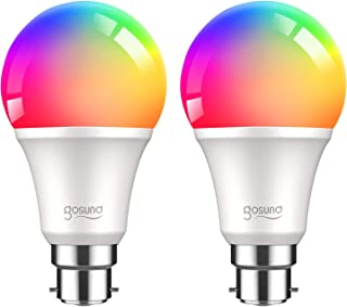 Smart Bulb, Gosund Alexa Light Bulbs 800Lm B22 75W Dimmable Wi-Fi RGB Color Smart LED Bulbs Work with Alexa, Google Home, ...