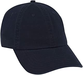 Adjustable Blank 6 Panel Garment Washed Cotton Twill Low Profile Dad Hat (One Size Fits Most)