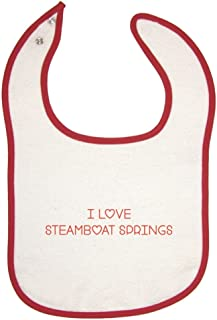 I Love Steamboat Springs Red Piping Bib