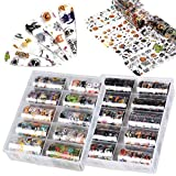 Ownest 2Packs 20 Rolls Halloween Nail Foil Transfers Stickers, Pumpkin Spider Skull Ghost Witch...