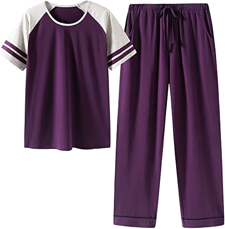 wodceeke Women Latest item Summer High quality Sleepwear Night Sleeve Short Tops+Trousers