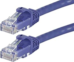 Monoprice Flexboot Cat6 Ethernet Patch Cable - Network Internet Cord - RJ45, Stranded, 550Mhz, UTP, Pure Bare Copper Wire, 24AWG, 75ft, Purlple