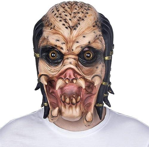 XINXI Home Masque d'halFaibleeen Perruque en Latex d'horreur Costume Masque d'horreur étranger